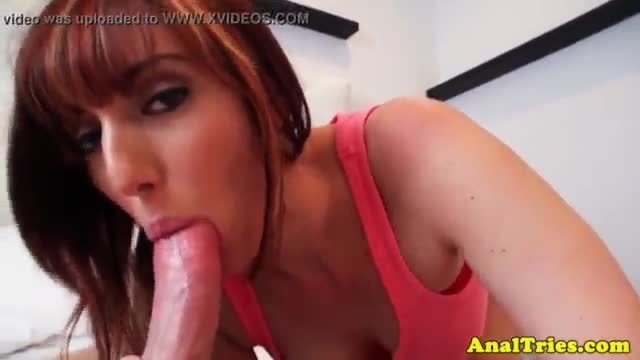 Busty ginger girlfriend anally plowed by bf