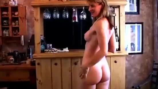 Skinny amateur mom toys hairy pussy